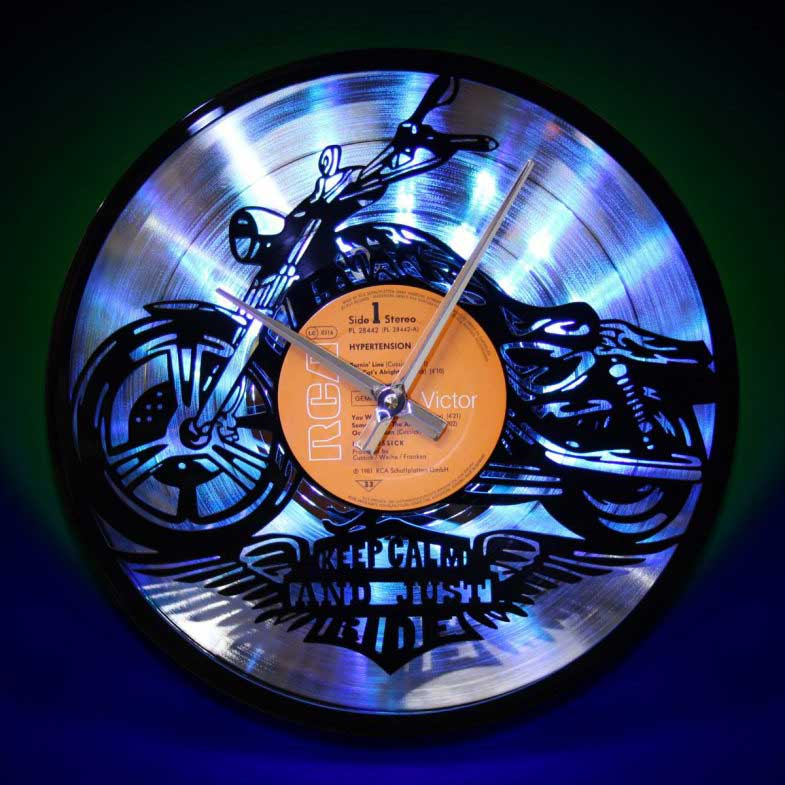 Backlit vinyl clocks